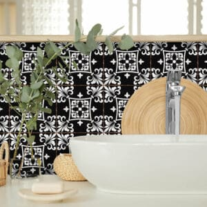 Design 1 Traditional tile transfers stickers wall Vintage Victorian Moroccan retro mosaic