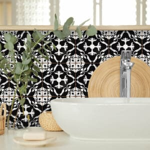 Design 3 Traditional tile transfers stickers wall Vintage Victorian Moroccan retro mosaic