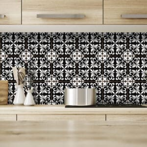 Design 4 Traditional tile transfers stickers wall Vintage Victorian Moroccan retro mosaic