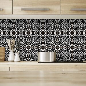 Design 6 Traditional tile transfers stickers wall Vintage Victorian Moroccan retro mosaic