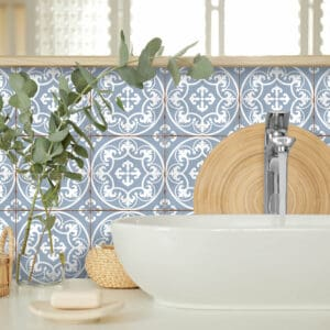 Design 7 Traditional tile transfers stickers wall Vintage Victorian Moroccan retro mosaic
