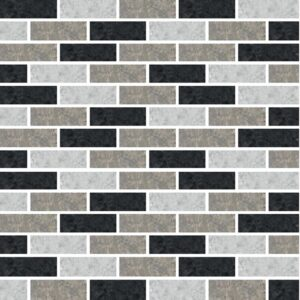 [Black Subway] Mosaic tile stickers transfers travertine stone KITCHEN BATHROOM peel and stick