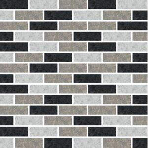 [Black Subway] Mosaic tile stickers transfers travertine stone KITCHEN BATHROOM peel and stick