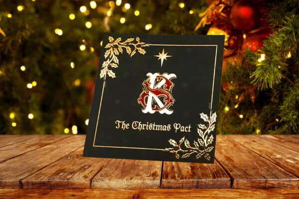 Beautiful softback luxury gold foil krampus book