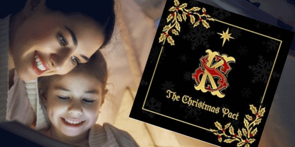 Beautiful softback luxury gold foil krampus book- a christmas eve rhyming tale
