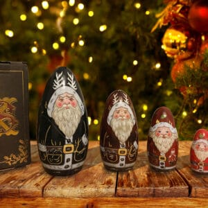 Luxury large krampus nesting russian dolls set,