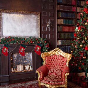 Retro and cool Luxury Christmas Velvet stocking Krampus Nutcracker Good girl or boy, stunning embroidery